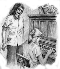 Many skills, such as playing piano, are marketable to someone who wants to learn what you know.