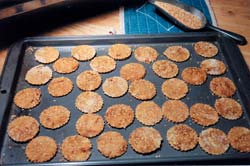 Bran crackers can stand alone or be topped with paté spread.