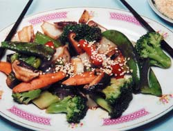 Healthy shiitake stir-fry