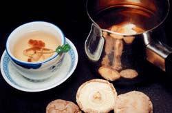 Shiitake tea is known throughout the world as the drink of good health