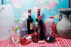 An array of vinegars from around the world