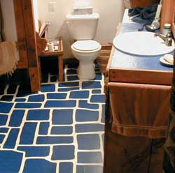 An easy to clean and maintain bathroom floor