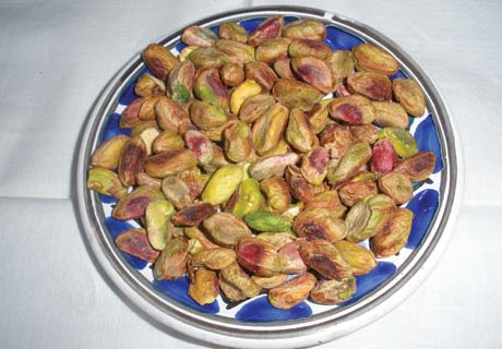 A single pistachio tree in its prime can produce around 50 pounds of husked nuts.