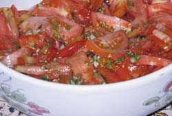 Tomato and corriander salad