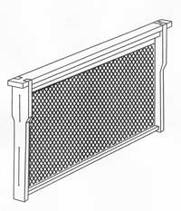 This illustration depicts one of the removeable frames with foundation installed.