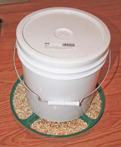 Completed feeder with feed loaded