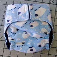 The finished diaper