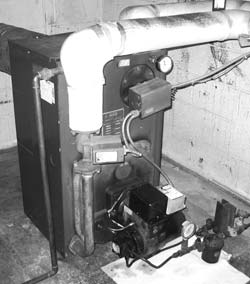 Older model hot water boiler