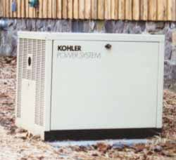 Pad-mounted Electric Start Kohler 8.5 kW propane generator