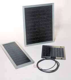Non-glass uni-solar modules and metal backed solarex module.