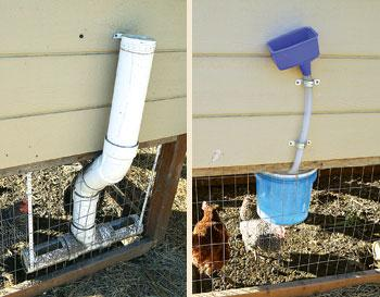 tube system to provide water for our backyard chickens