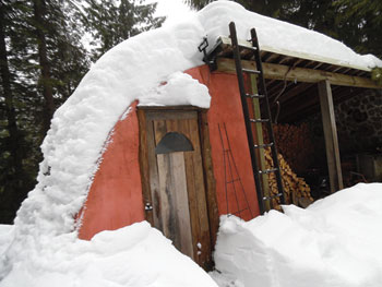 The completed shed can hold any amount of snow.