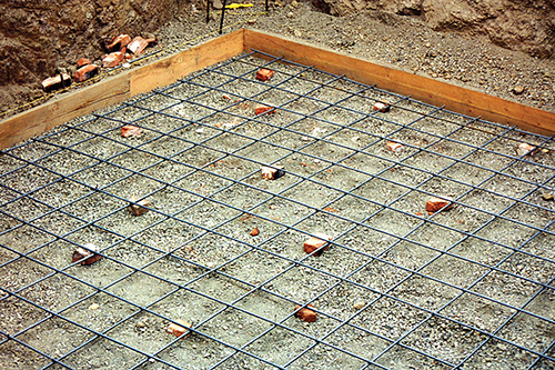 floor grid for the root cellar