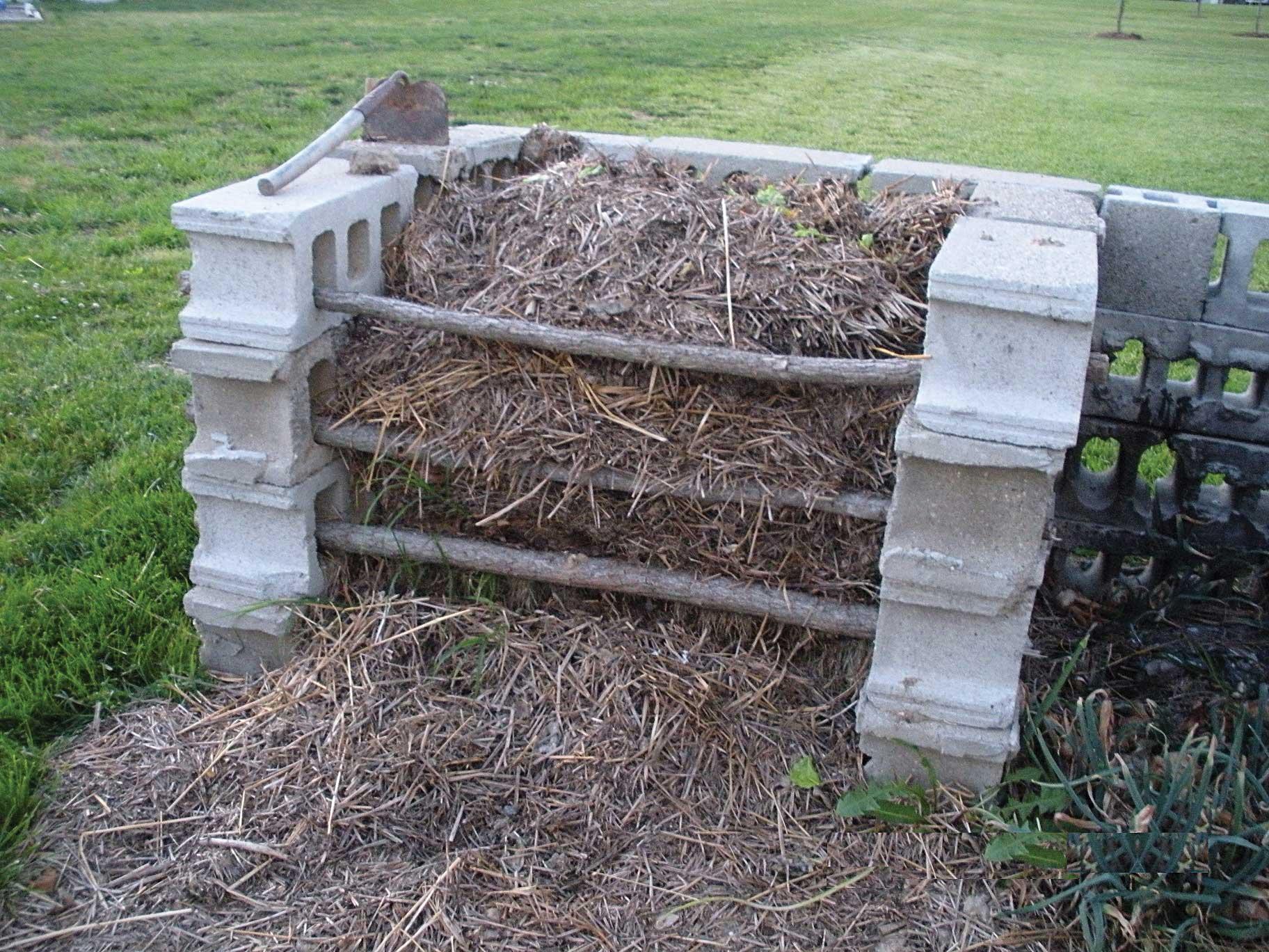 concrete block composter