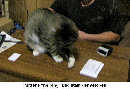 Stamping-envelopes