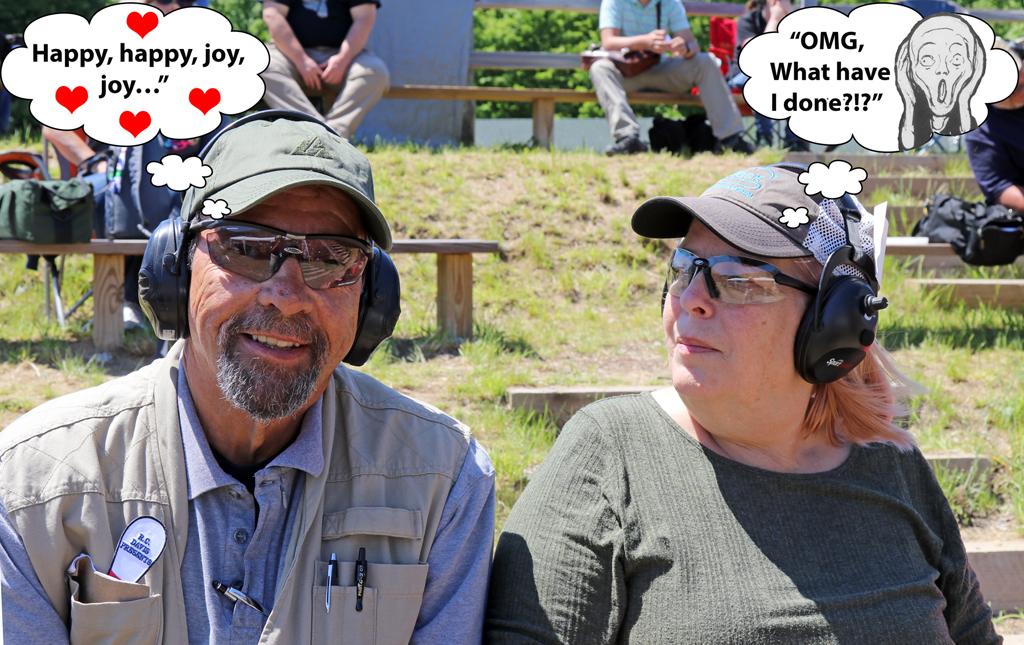 Massad Ayoob and Gail Pepin at the Pin Shoot