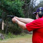 Marty Hayes shooting a revolver