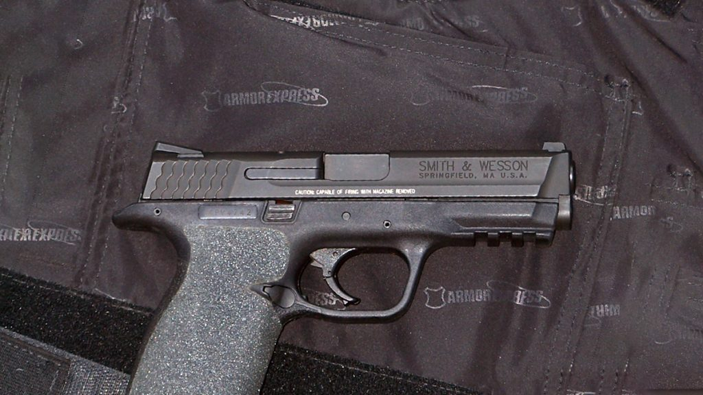 Baby armor and a S&W M&P pistol