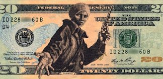 Harriet Tubman with Revolver on $20 bill